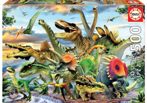 Educa Machtige dinosaurussen - 500 stukjes