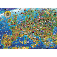 thumb-De kaart van Europa  - legpuzzel van 500 stukjes-2