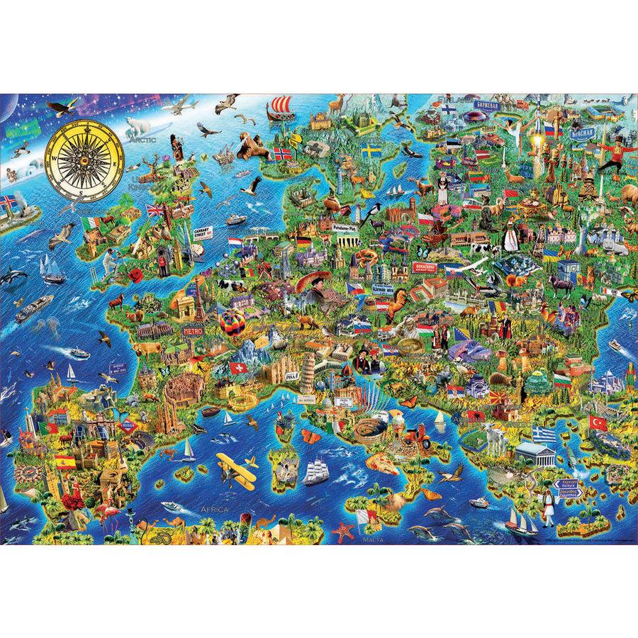 De kaart van Europa  - legpuzzel van 500 stukjes-2