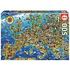 Educa De kaart van Europa  - legpuzzel van 500 stukjes