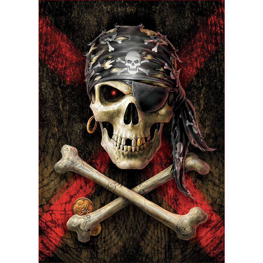 Skull of the pirate  -  jigsaw puzzle of 500 pieces-1