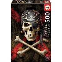 thumb-Skull of the pirate  -  jigsaw puzzle of 500 pieces-2