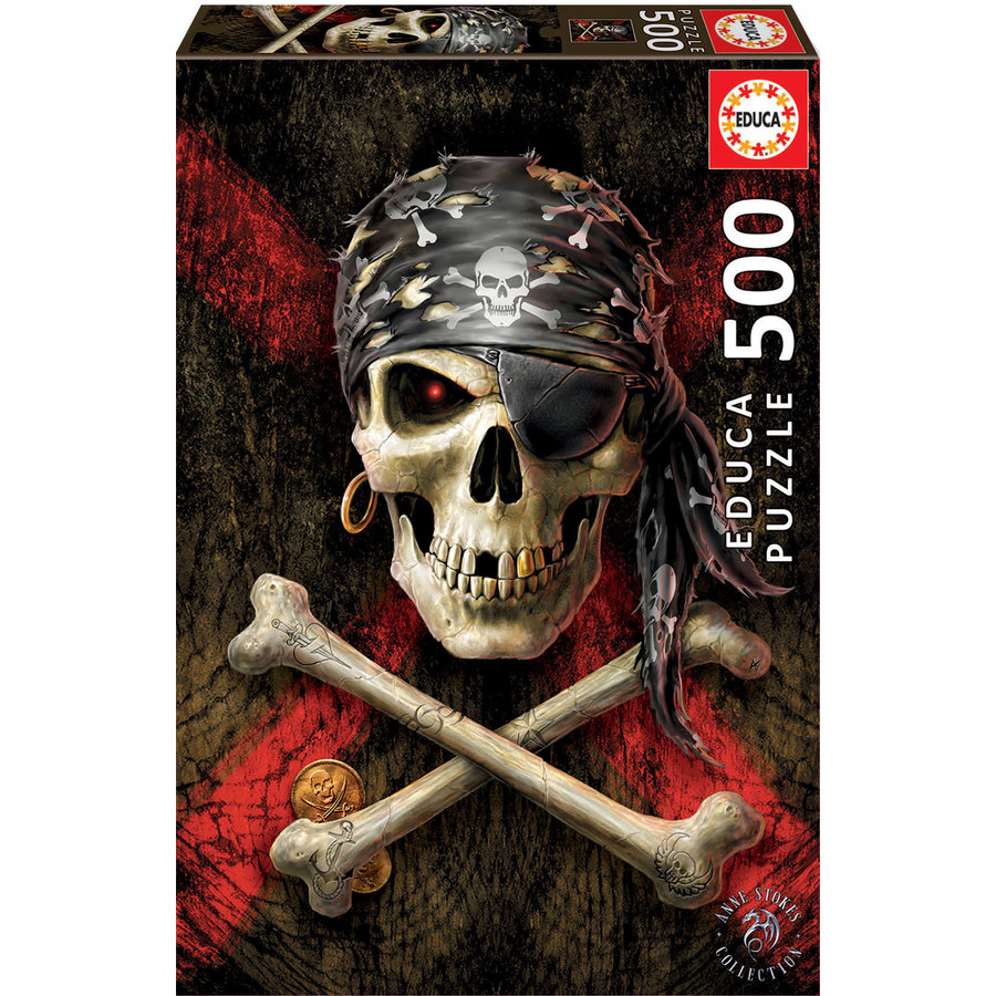 Skull of the pirate  -  jigsaw puzzle of 500 pieces-2