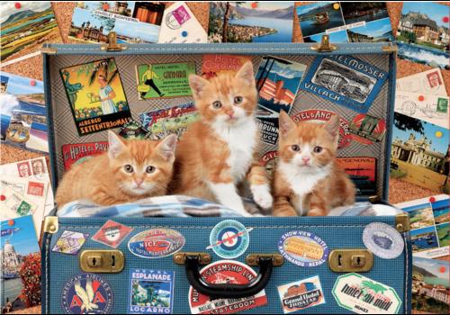 Katjes op reis - puzzel van 200 stukjes