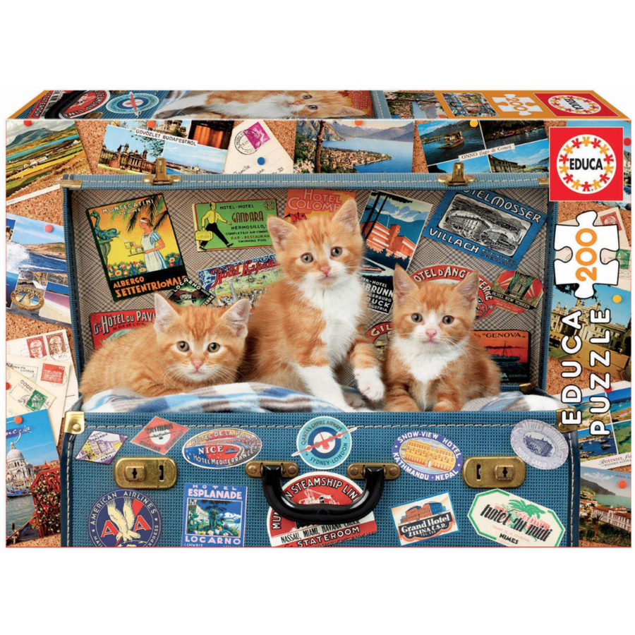 Kittens on a holiday - puzzle of 200 pieces-2