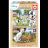 Educa HOUT: Disney - Dalmatiërs - Aristokatten - 2 x 25 stukjes