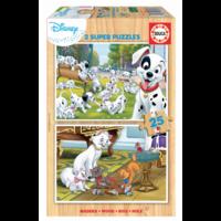 WOOD: Disney - Dalmatians - Aristochats - 2 x 25 pieces