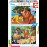thumb-Disney - Leeuwenkoning - Jungleboek - 2 x 20 stukjes-1
