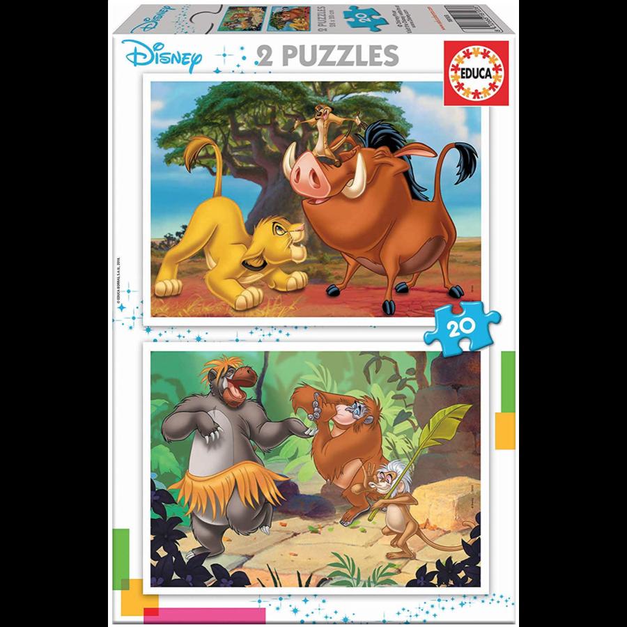 Disney - Leeuwenkoning - Jungleboek - 2 x 20 stukjes-1