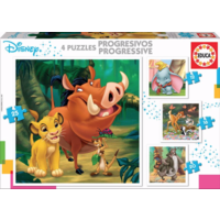 thumb-4 puzzles of Disney animals - 12, 16, 20 and 25 pieces-1