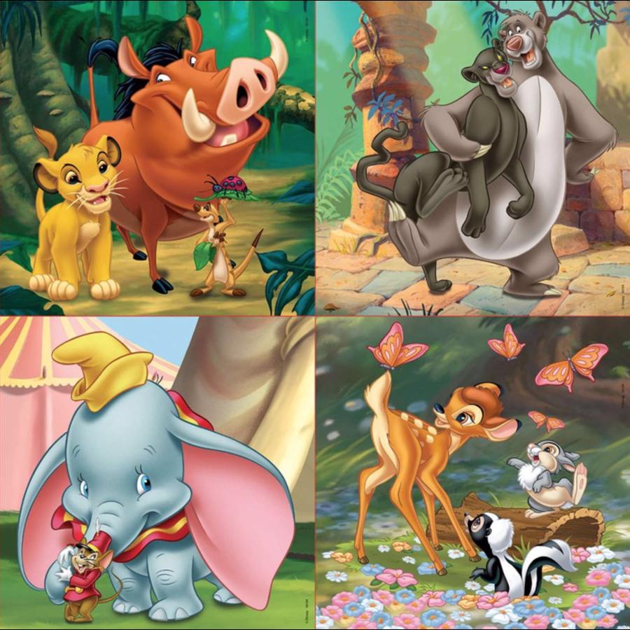 4 puzzels van de Mickey Mouse - 12, 16, 20 en 25 stukjes-2