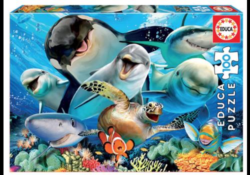 Selfie onder water - 100 stukjes