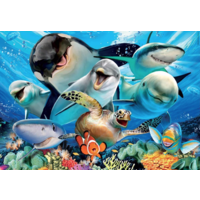 thumb-Selfie onder water - puzzel van 100 stukjes-2
