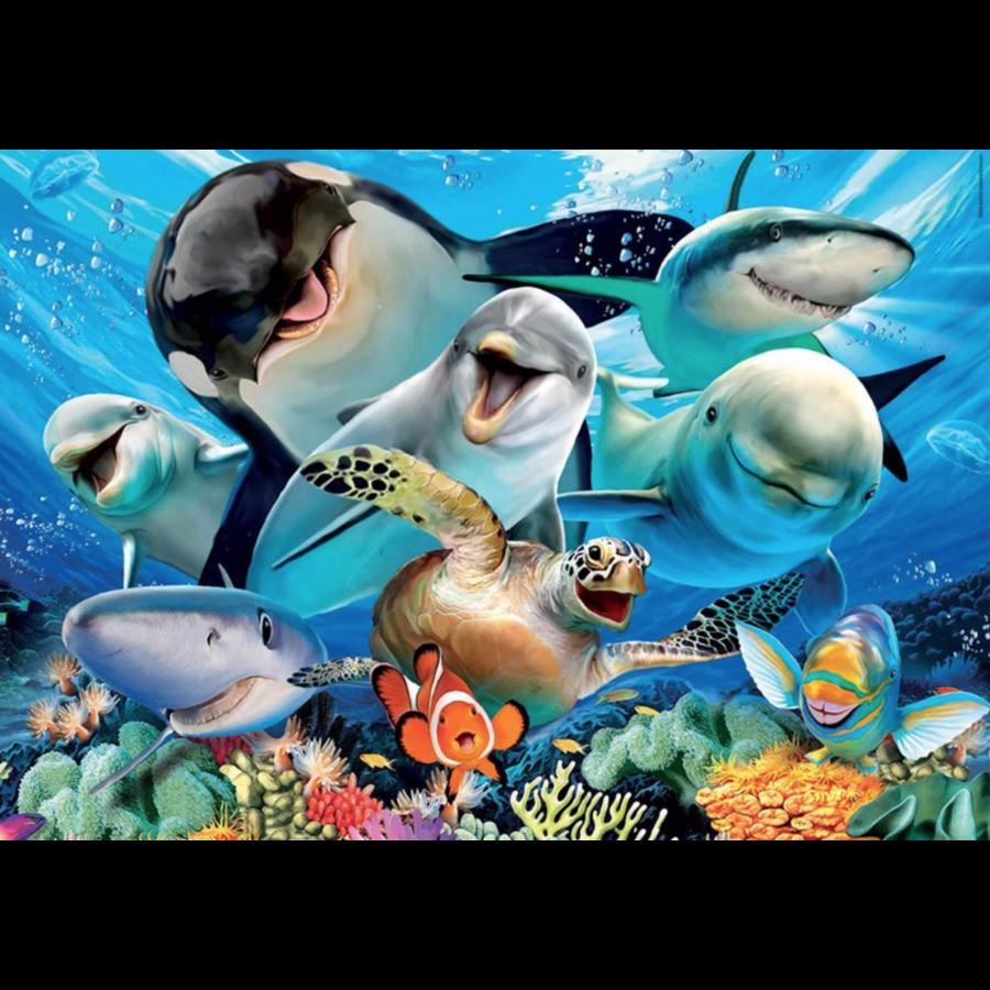 Selfie sous l'eau - puzzle de 100 pièces-2