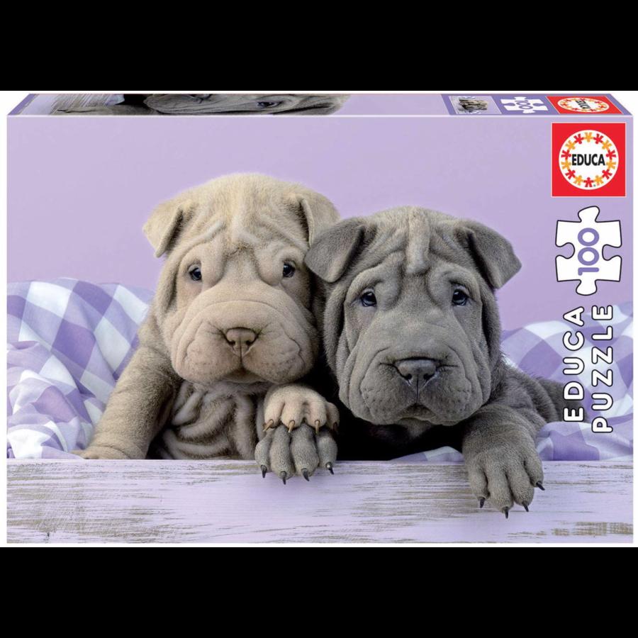 Goedemorgen hondjes - puzzel van 100 stukjes-1