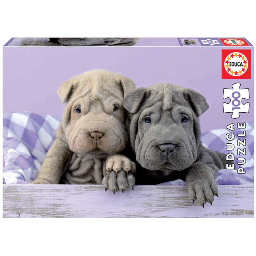 Good morning dogs - puzzle of 100 pieces-1