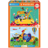 Educa A colourful mess of animals  - 2 x 20 pieces