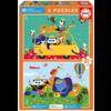 Educa Un désordre coloré d'animaux  - 2 x 20 pièces