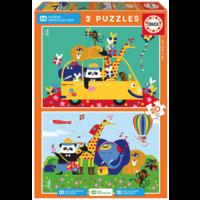 Un désordre coloré d'animaux  - 2 x 20 pièces