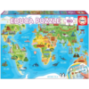 Educa Monuments world map - puzzle of 150 pieces