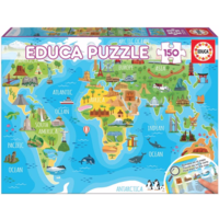thumb-Monuments world map - puzzle of 150 pieces-1