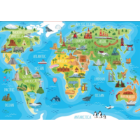 thumb-Monuments world map - puzzle of 150 pieces-2