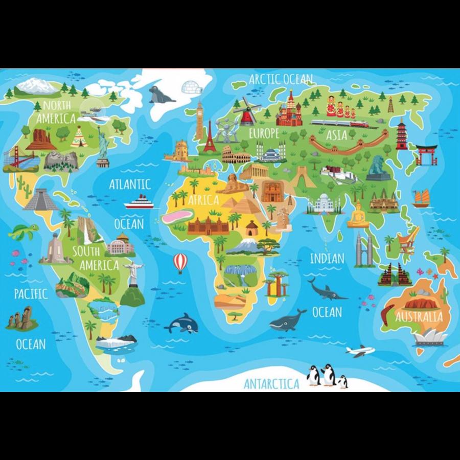 Wereldkaart monumenten - puzzel van 150 stukjes-2