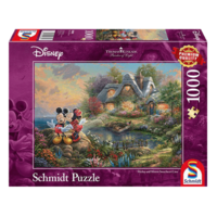 thumb-Mickey and Minnie Mouse - Thomas Kinkade - jigsaw puzzle of 1000 pieces-1