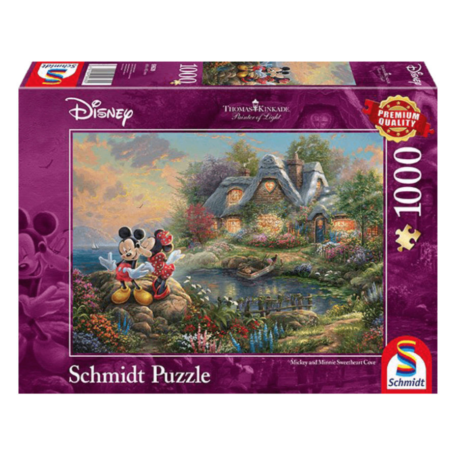 Mickey and Minnie Mouse - Thomas Kinkade - jigsaw puzzle of 1000 pieces-1