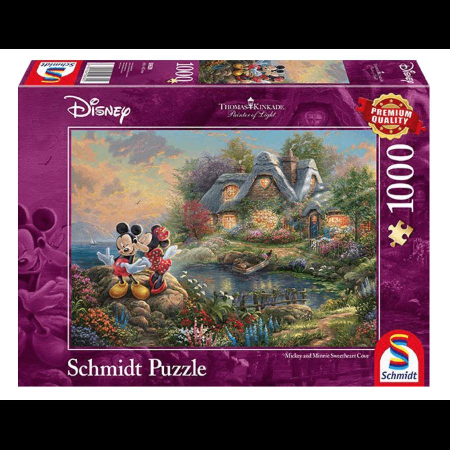 Mickey et Minnie Mouse - Thomas Kinkade - puzzle de 1000 pièces-1