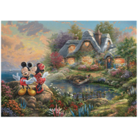 thumb-Mickey and Minnie Mouse - Thomas Kinkade - jigsaw puzzle of 1000 pieces-2