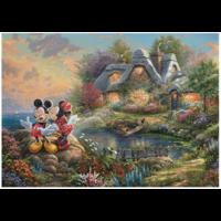 thumb-Mickey en Minnie Mouse - Thomas Kinkade - puzzel van 1000 stukjes-2