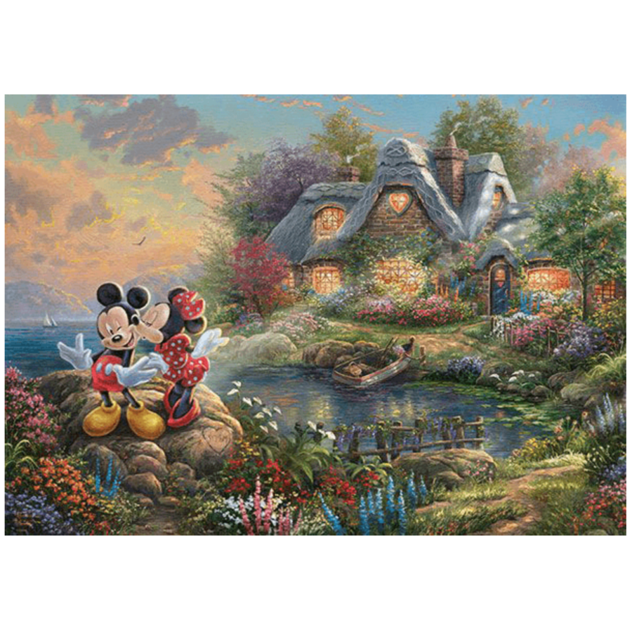 Mickey and Minnie Mouse - Thomas Kinkade - jigsaw puzzle of 1000 pieces-2