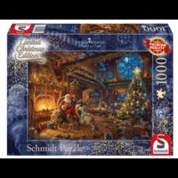 Het atelier van de kerstman - Thomas Kinkade - puzzel van 1000 stukjes
