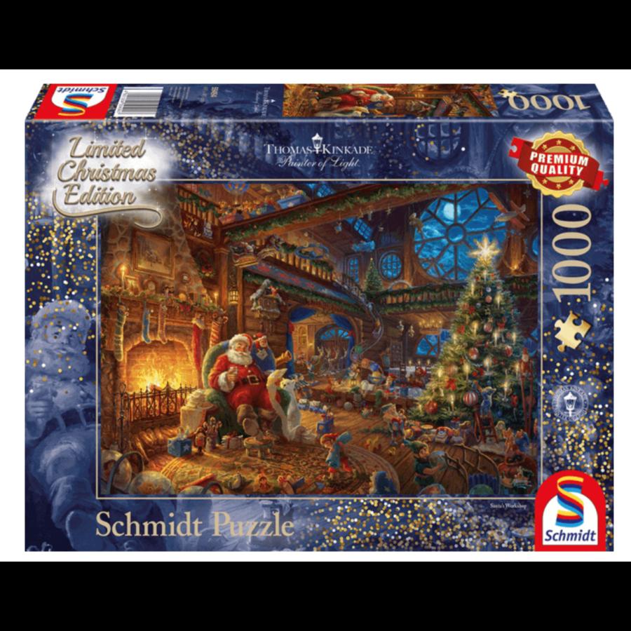 Het atelier van de kerstman - Thomas Kinkade - puzzel van 1000 stukjes-1