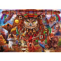 Animal Totem - puzzle of 1000 pieces