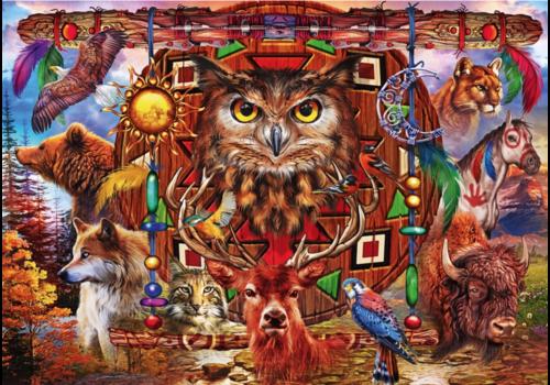 Bluebird Puzzle Animal Totem - 1000 pieces