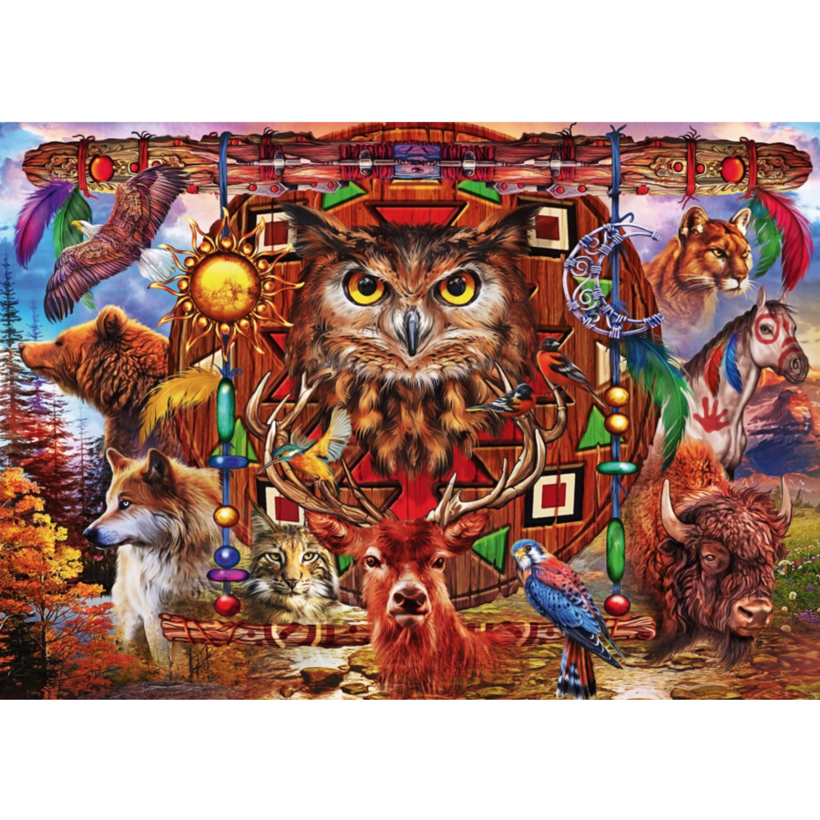 Animal Totem - puzzle of 1000 pieces-1