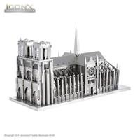 thumb-Notre Dame de Paris - Iconx puzzle 3D-1