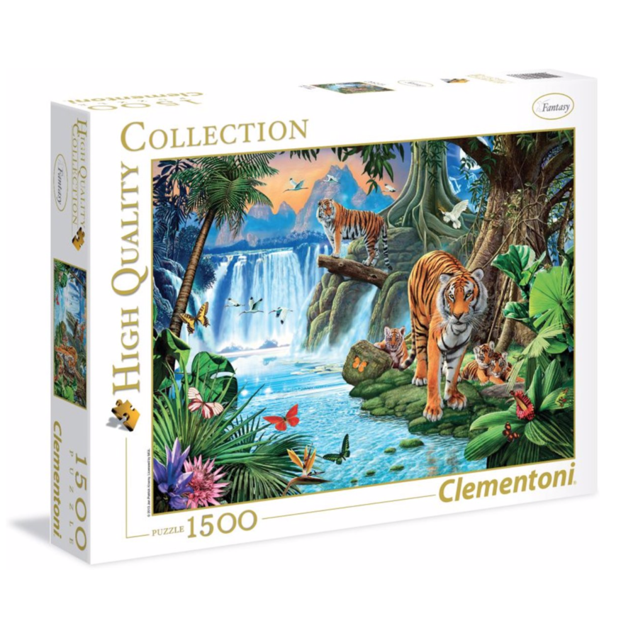 Tiger Family - puzzle of 1500 pieces-2