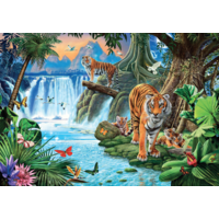 thumb-Tiger Family - puzzle of 1500 pieces-1