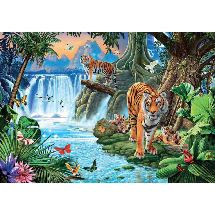 Tiger Family - puzzle of 1500 pieces-1