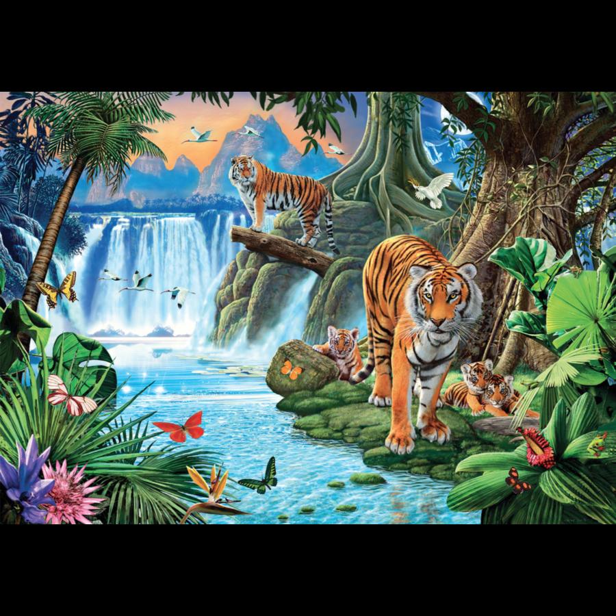 Tijger familie - puzzel 1500 stukjes-1