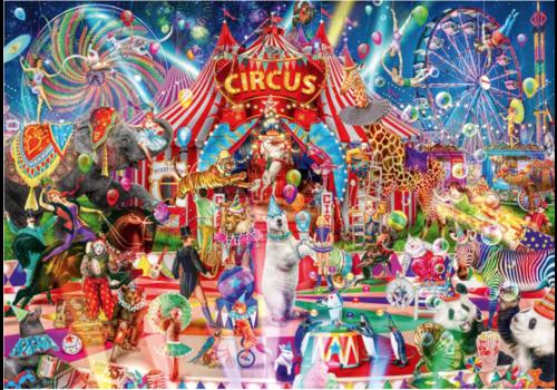 Bluebird Puzzle Een avond in het circus - 1000 stukjes
