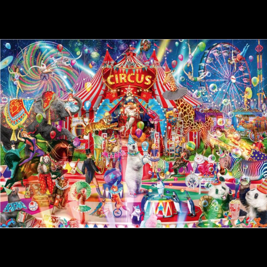 Une nuit au cirque - puzzle de 1000 pièces-1