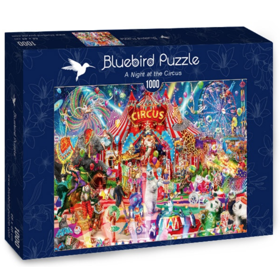 Une nuit au cirque - puzzle de 1000 pièces-2