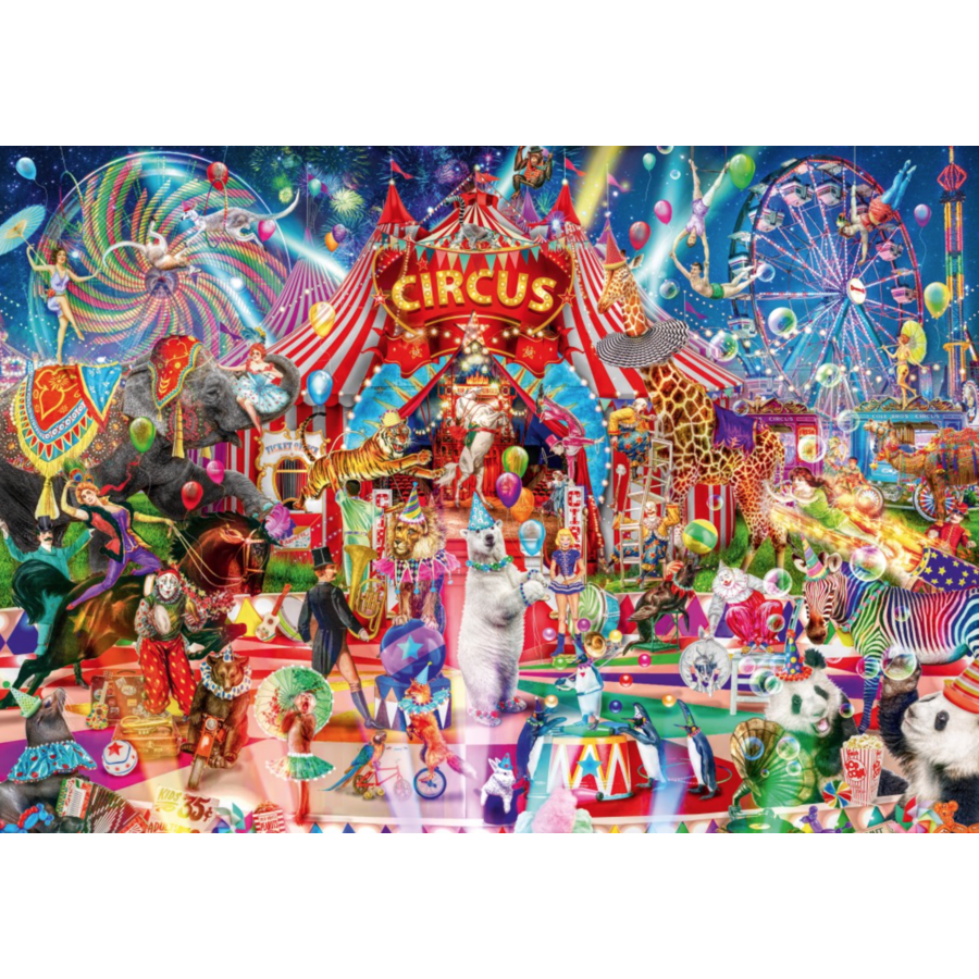 Een avond in het circus - puzzel van 4000 stukjes-1
