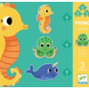Djeco 3 puzzles animals in the sea - 4, 6 and 9 pieces
