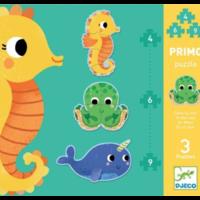 thumb-3 puzzels dieren in de zee - 4, 6 en 9 stukjes-1