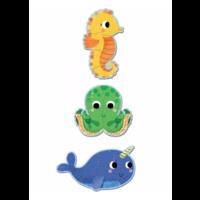 thumb-3 puzzels dieren in de zee - 4, 6 en 9 stukjes-2